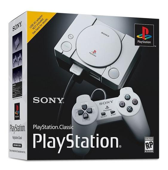 Consola Playstation Classic Hdmi + 2 Controles + 20 Juegos