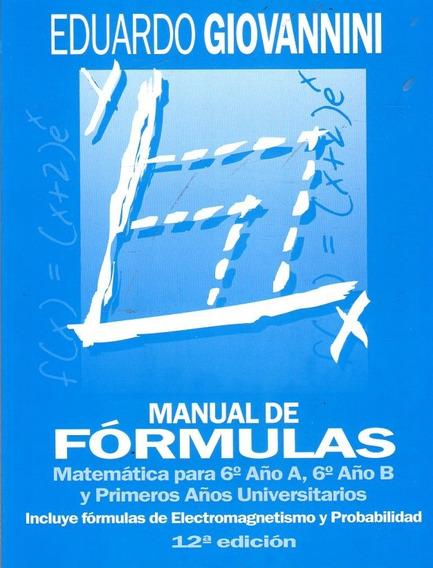 Manual De Fórmulas Matemática Para 6° Año - Giovannini