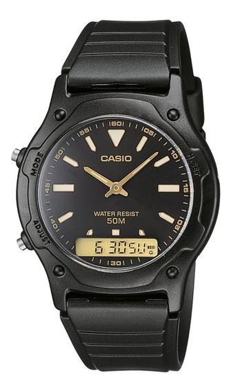 Reloj Casio Con Cronómetro Y Alarma Aw 49 Hombre Colores