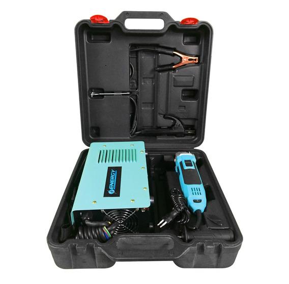 Kit Soldadora Inverter Electrodo Y Amoladora Angular