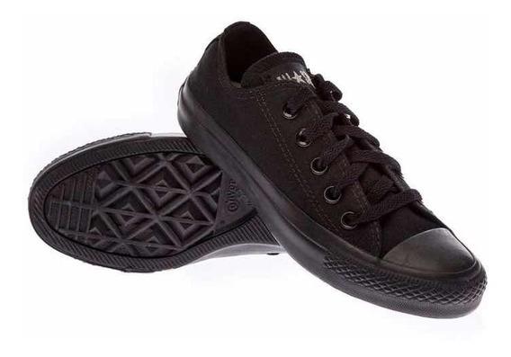 Calzado Converse All Star Monochrome Negro Del 35 Al 45
