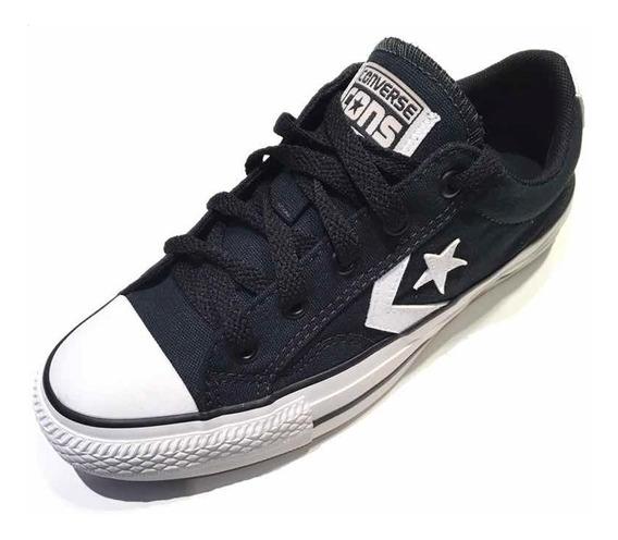 Calzado Converse Star Player Negro/blanco Del 35 Al 44