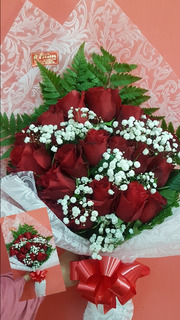 Floreria Ramo De 12 Rosas.envios Gratis