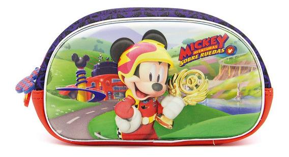 Cartuchera En 3d Con Doble Cierre De Neopreno Mickey Mouse