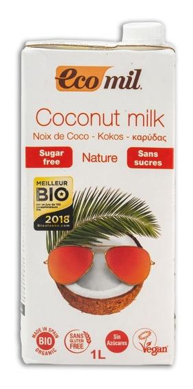 Leche De Coco Eco Mil 1 Litro Sin Azucar / Gluten Free