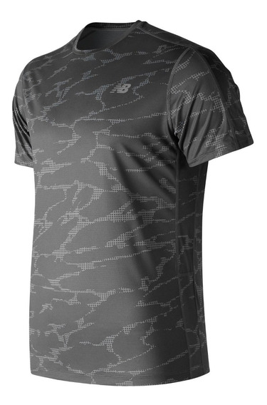 Remera New Balance Hombre Mt83174bgr Printed Accelerate Ss