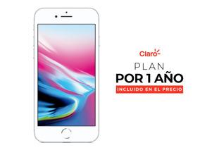iPhone 8 64gb Gy Lte + Plan De 2gb Incluido Por 1 Año