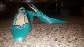 Sandalias Color Verde. Talle 37