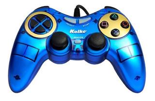 Joystick Kolke Gamepad Ps2 Kjg-100 Azul
