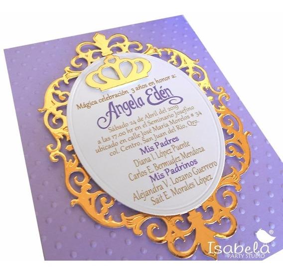 Corona Princesa Tiana Invitaciones Xv Anos Invitaciones Y
