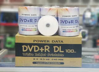 Dvd Virgen 8.7 Power Data X 50 Unidades Raul Games