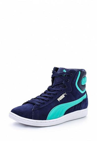 Puma Vikky Mid Multi Color Azul/verde De Dama Del 37,38 Y 41