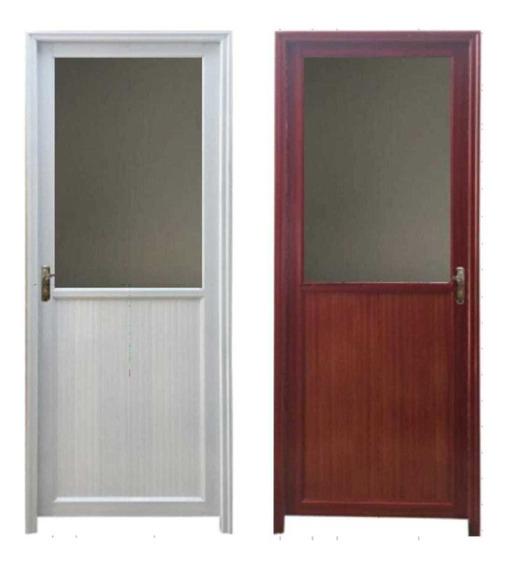 Puerta Exterior Aluminio Ciegas O Vidrio Nuevas Marron Blanc