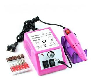 Torno Pro 25000 Rpm + Reversa+ Fresas Uñas Pedicura Manicura