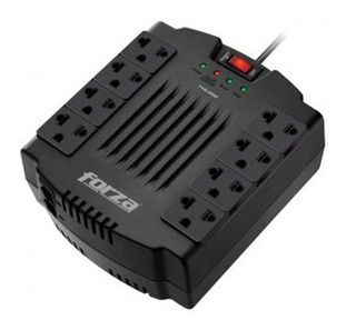 Alargue Zapatilla Regulador Voltaje Forza 1200va 600w 8 Toma