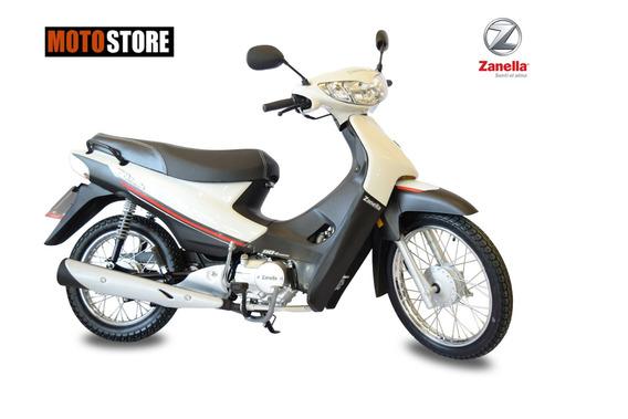 Moto Zb 110cc Con Arranque Electrico Blanco Zanella 0km 2019