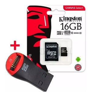 Memoria Micro Sd Kingston 16gb Canvas 80 M/s + Pendrive