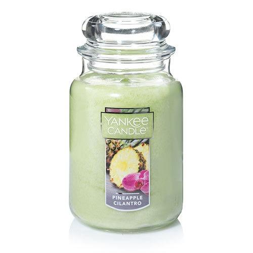 Vela Aromática Large Jar Pineapple Cilantro Yankee Candle