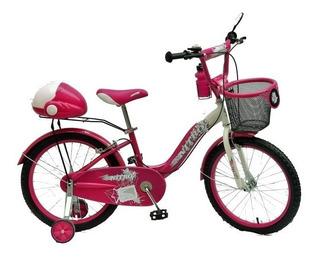 Bicicleta Niña Rod. 20, Nitro, Rosas Hermanos Mercedes