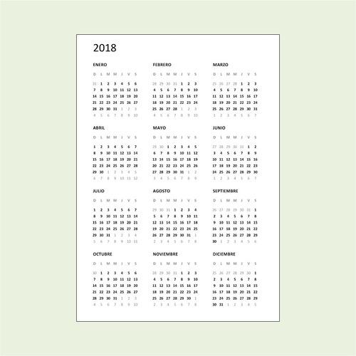 Calendario Diciembre 2020 Para Imprimir.Calendarios A5 2018 2019 2020 2021 Pdf Para Imprimir
