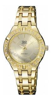 Reloj Q&q Dama. Resistente Al Agua. F557-010y