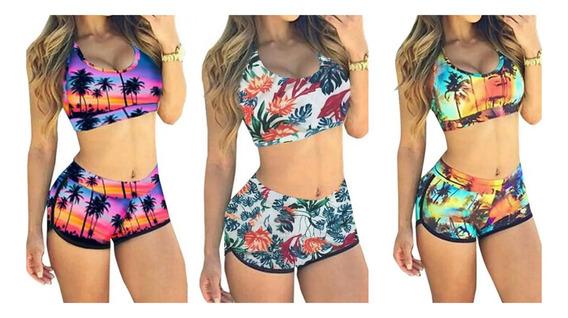 Mallas Bikini Con Short - Trajes De Baño (repusimos Stock)