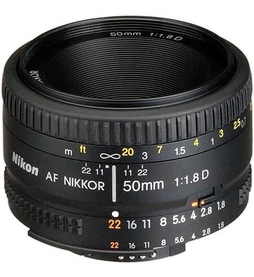 Lente Nikon 50 Mm Af F 1,8, 1 Año De Garantía Oficial.