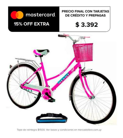 Bicicleta Paseo Dama Rodado 26 + Bolso + Parrilla - El Rey