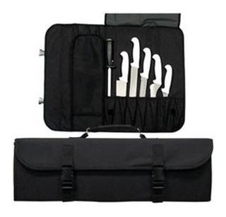 Estuche Para 10 Cuchillos Color Negro Excelente Calidad