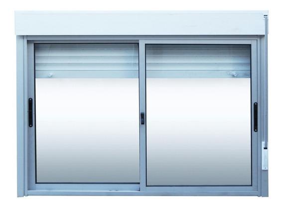 Ventanas Aluminio Corrediza Cortina De Enrollar 120 X 100