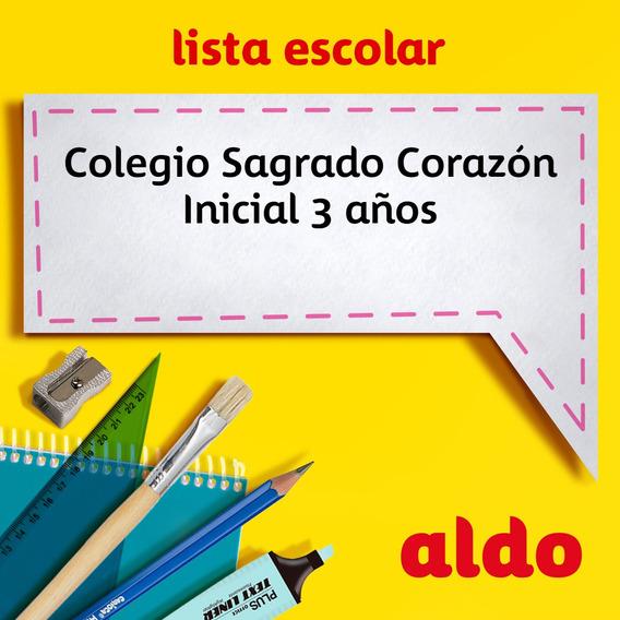 Lista Escolar Colegio Sagrado Corazón Inicial 3 Años