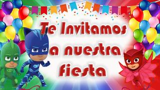 Invitaciones De Heroes En Pijamas En Mercado Libre Uruguay