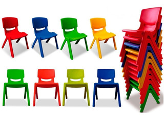 Silla Para Niños Plástico Infantil Jardín Varios Colores!!!