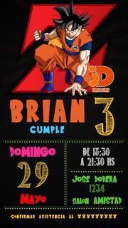 Tarjetas De Cumpleanos Dragon Ball Arte Antiguedades En