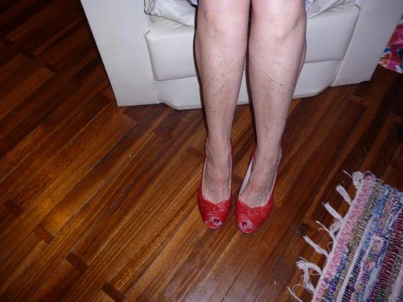 Zapatos Altos Rojos De Mujer - Venet -sin Punta Talle 39