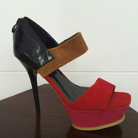 Sandalia Calzado Mujer Nuevo 40 Taco Alfiler Plataforma