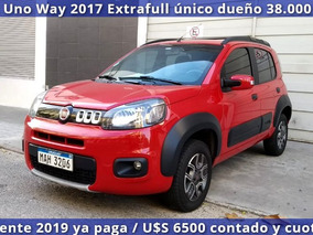 Fiat Uno Way Extrafull 2017 Unico Dueño Como Nuevo!