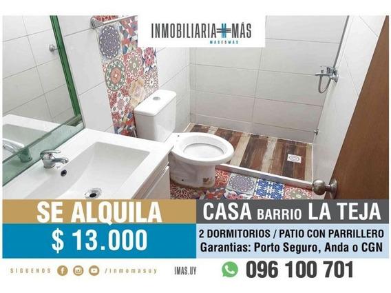 2 Dormitorios Alquiler Casa La Teja Montevideo L