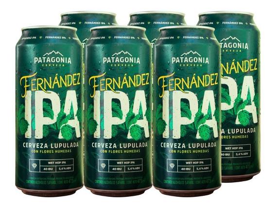 Cerveza Patagonia Fernández Ipa 473 Cc 6 Unidades