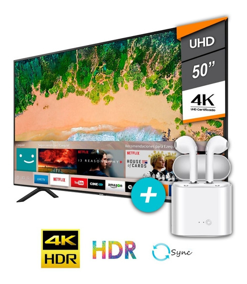 Tv Samsung Smart Led 50 Uhd 4k Gtia Oficial + Auric Inalam