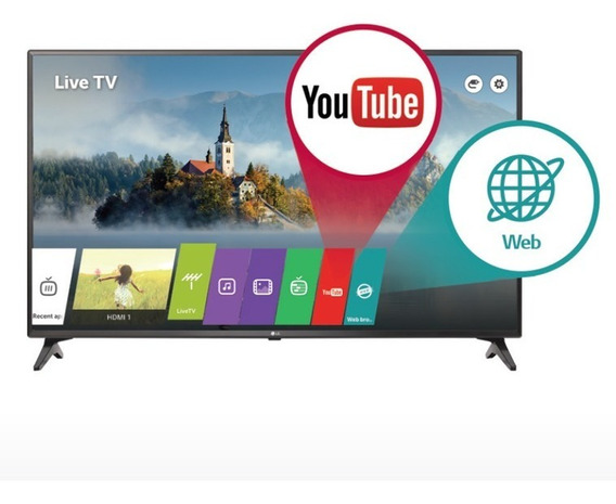 Tv Led Lg Full Hd 49 Con 2 Años De Gtia. Isdbt Youtube Wifi