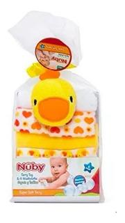 Babitas Nuby Set De 6 Con Esponja Unisex - Bebés Y Niños-ub