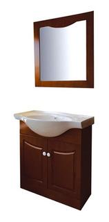 Mueble De Baño Bajo Mesada 2 Cajones Beige Con Bacha