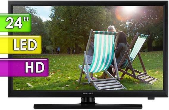 Monitor Tv Led Samsung Hd 24 Hdmi Base + Pared Gtia 3 Años