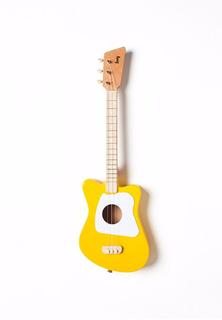 Guitarra Loog Mini Color Amarillo De 3 Cuerdas