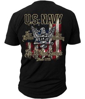 Remera Black Ink Navy For All That Served, Xxl