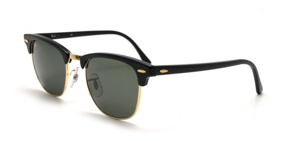 Ray-ban Clubmaster Classic Black Rb3016 W0365 51-21 Medium