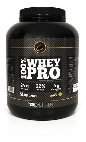 Proteina 100% Whey Pro 5lb Vainilla Gold Nutrition