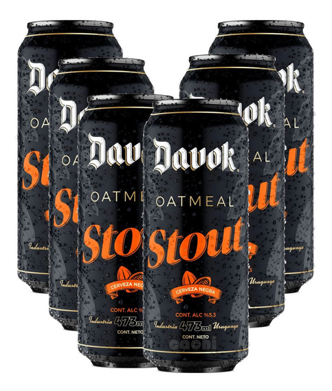 Cerveza Davok Stout X 6 Latas 500ml