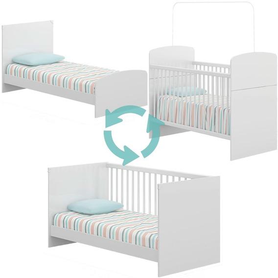 Cuna 3 En 1 Convertible Infantil Cama Minicama Bebe